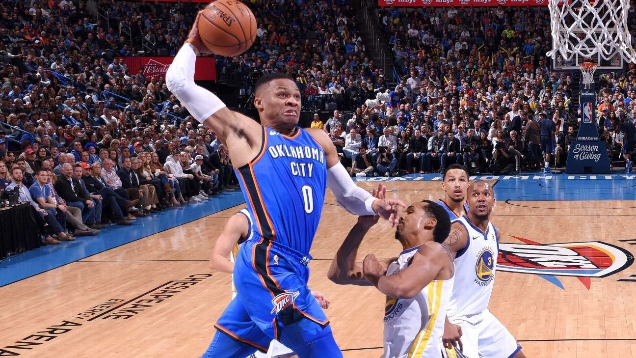Russell Westbrook savors sweet win after string of losses to Warriors