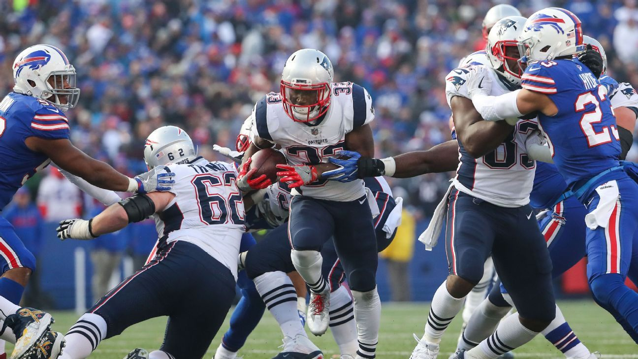 Bills' challenge is stopping Patriots' ground game, not just Tom Brady - AFC East- ESPN