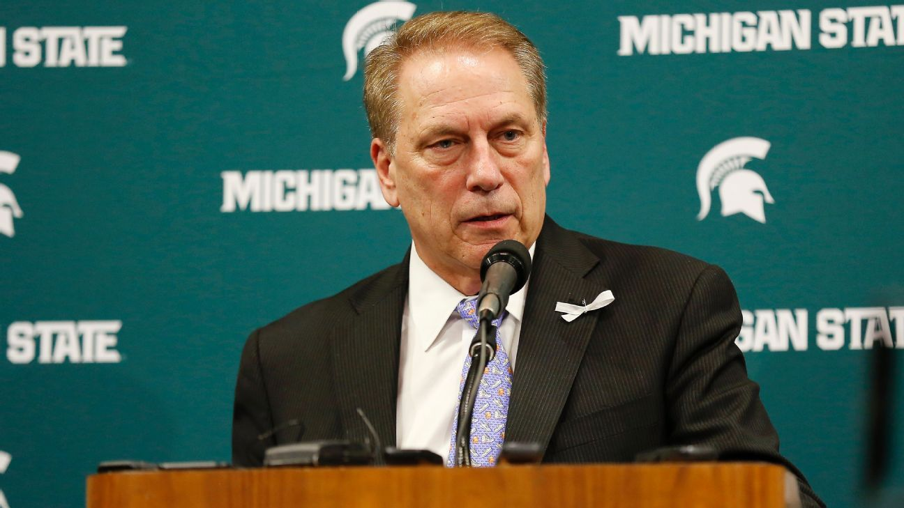 Michigan State Spartans coach Tom Izzo will only answer basketball-related questions