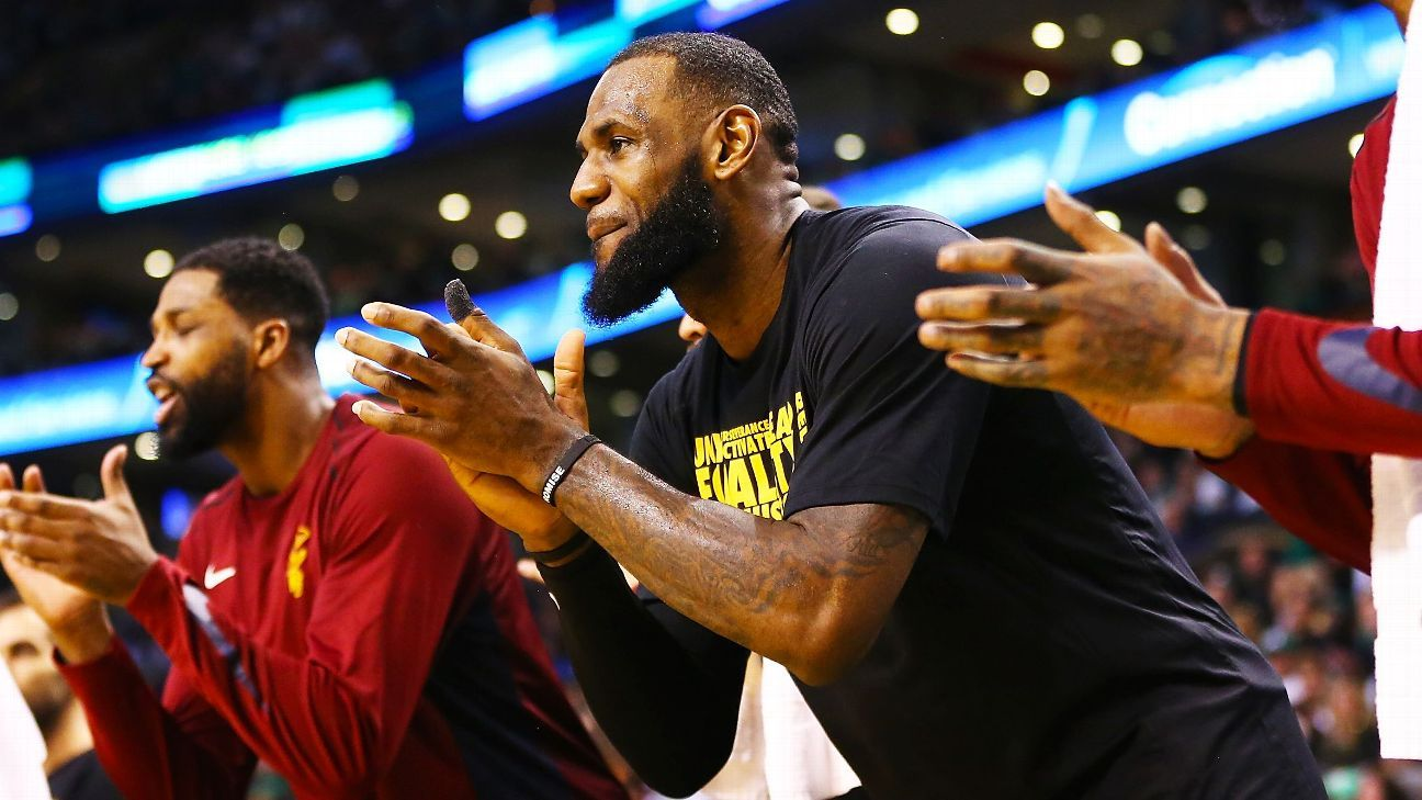 LeBron James reacts to new-look Cleveland Cavaliers' big win over Boston Celtics 'It's almost like the ...