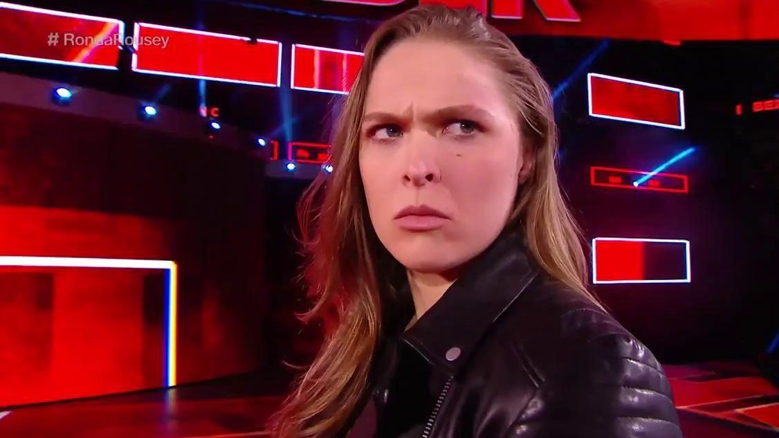 NEW ORLEANS -- Two months after signing a contract to become a WWE superstar, Ronda Rousey entered the ring for the first match of her career Sunday night ...