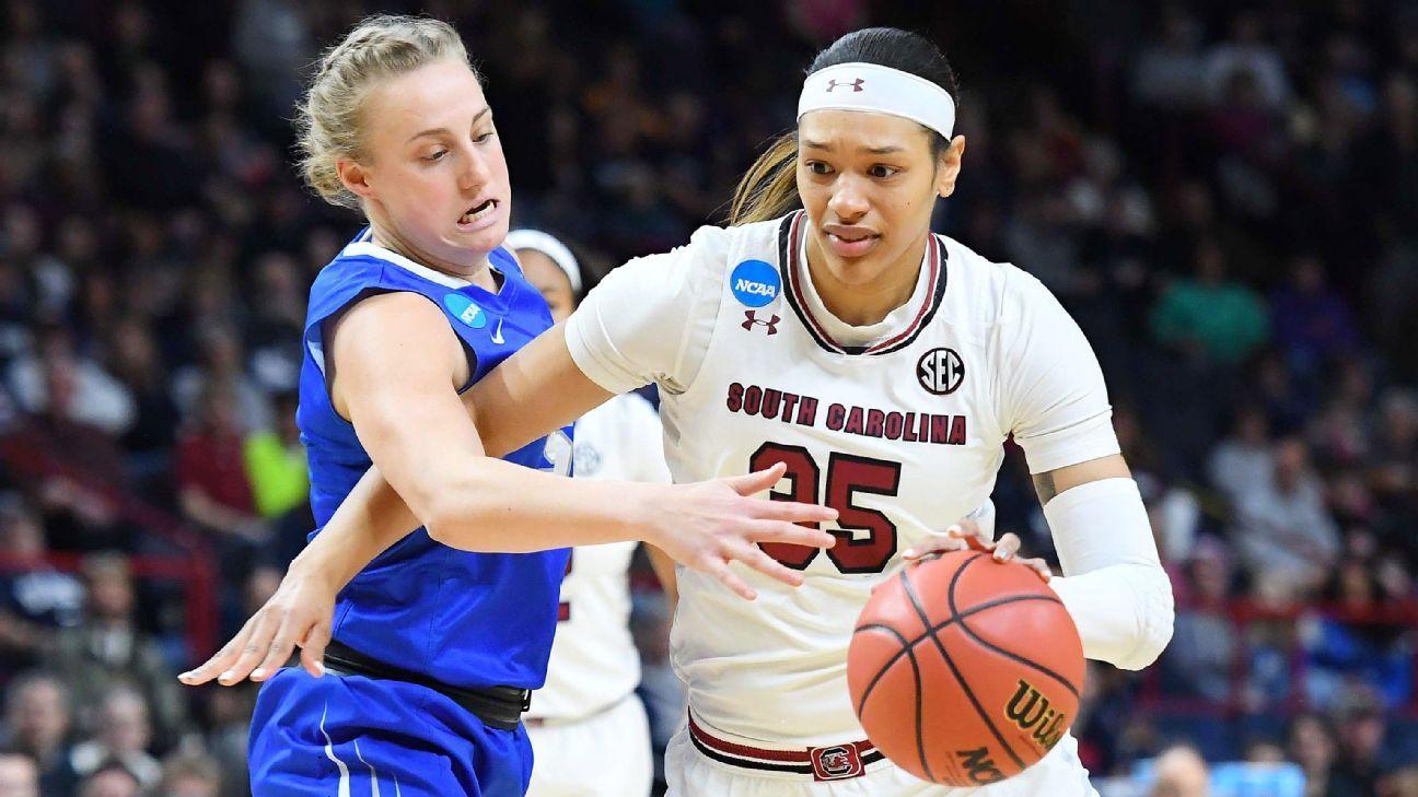 Women's NCAA tournament -- South Carolina Gamecocks, UConn Huskies solidify showdown in Albany ...