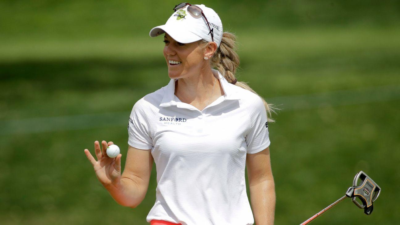 Amy Olson shoots 63, leads LPGA CME Group Tour Championship