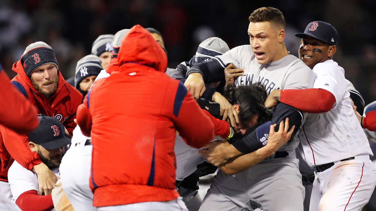 Three ejected as benches clear twice in game between New ...