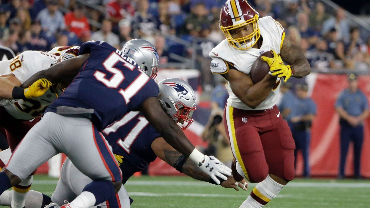 Redskins rookie RB Guice (ACL) out for season