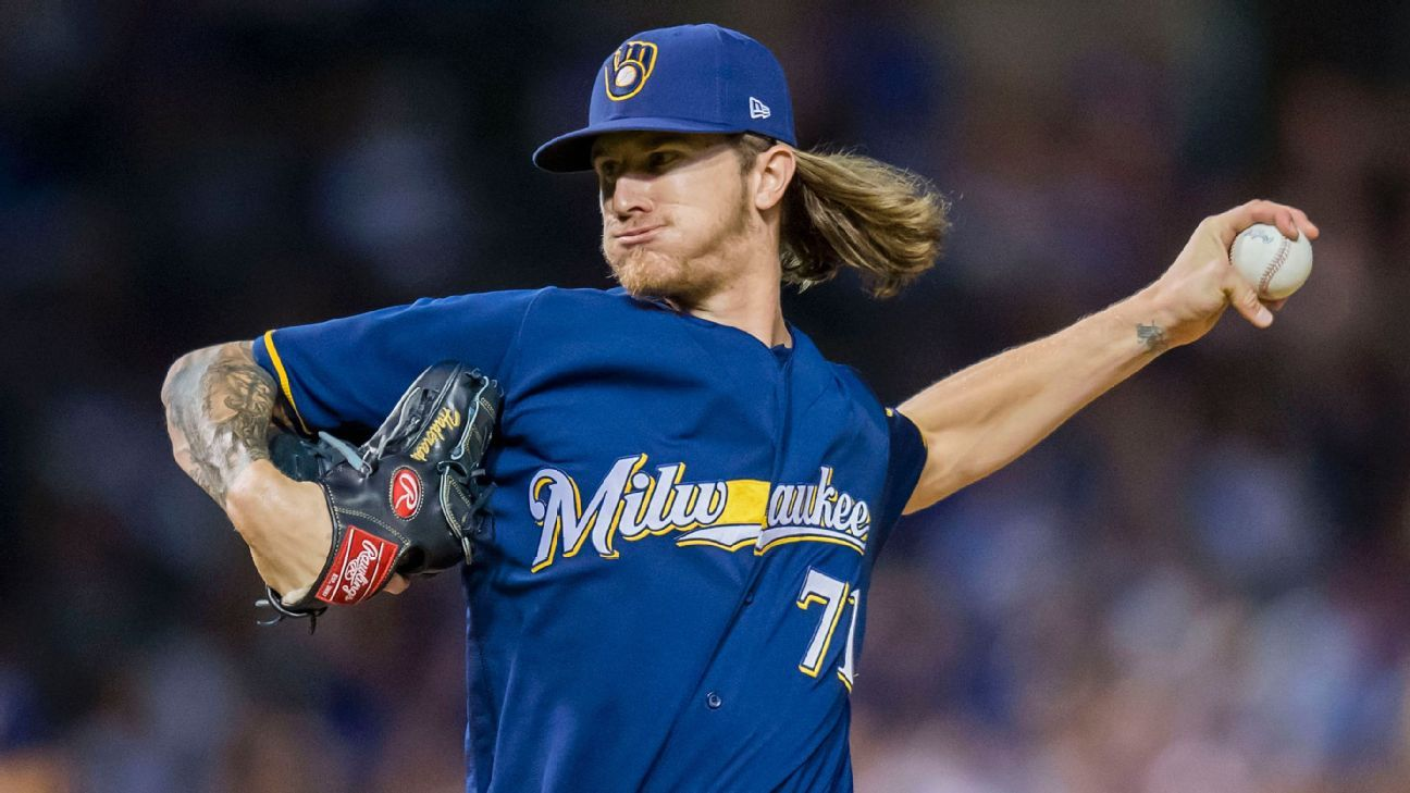 MLB -- Milwaukee Brewers' Josh Hader trouble for Chicago Cubs