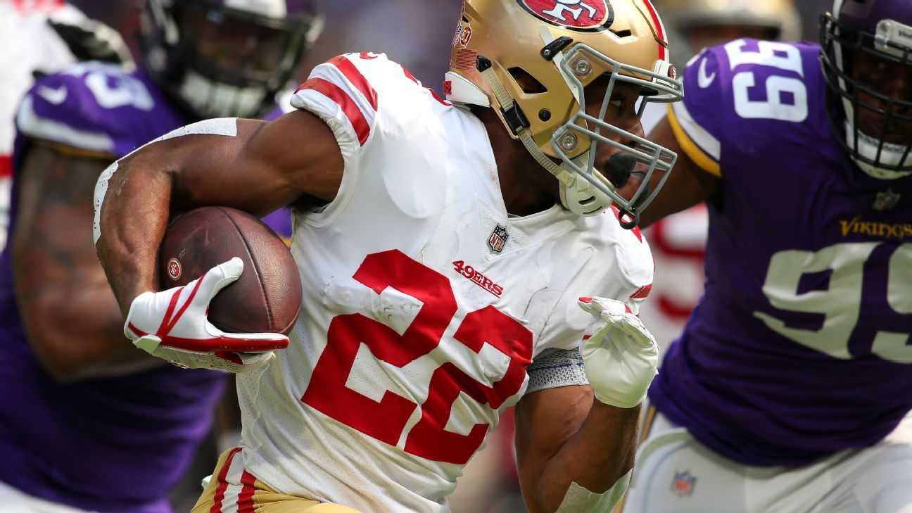 Without Jerick McKinnon, 49ers sort through running back situation