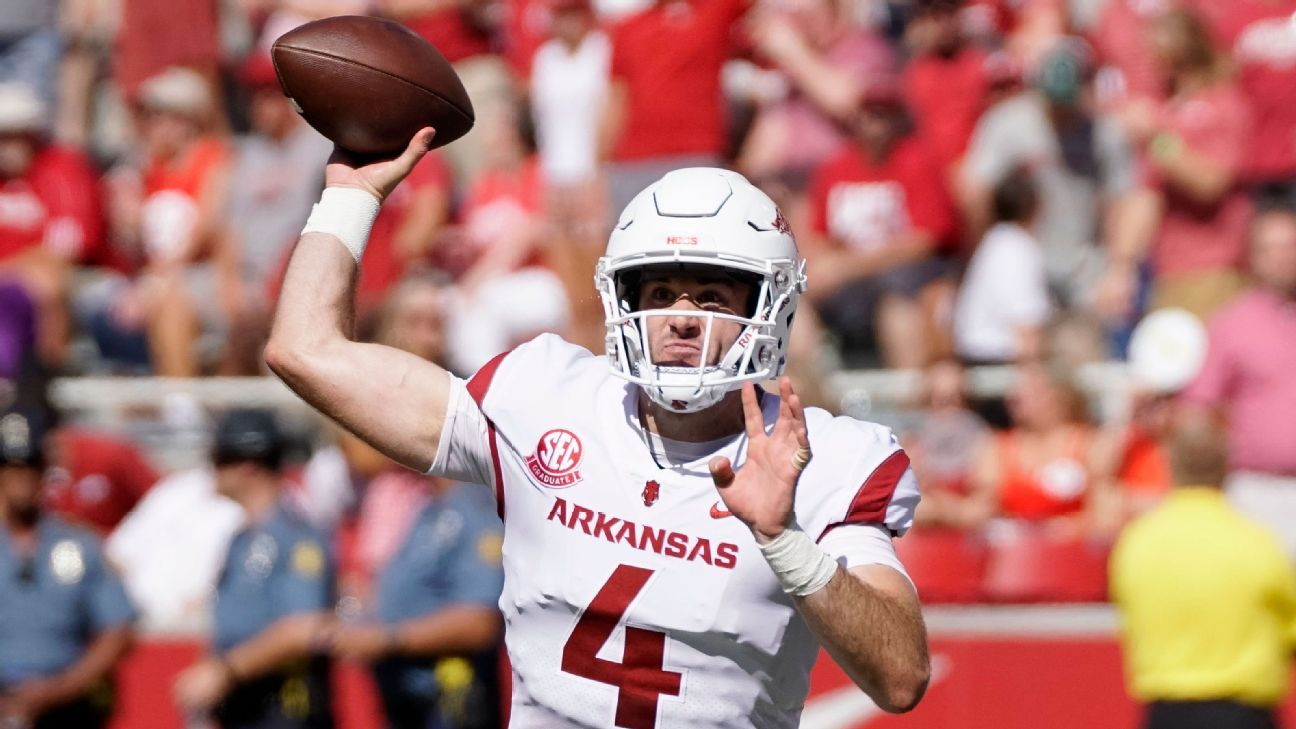 Arkansas coach Chad Morris said Monday that Ty Storey will start at quarterback against Auburn, despite not playing this past weekend.