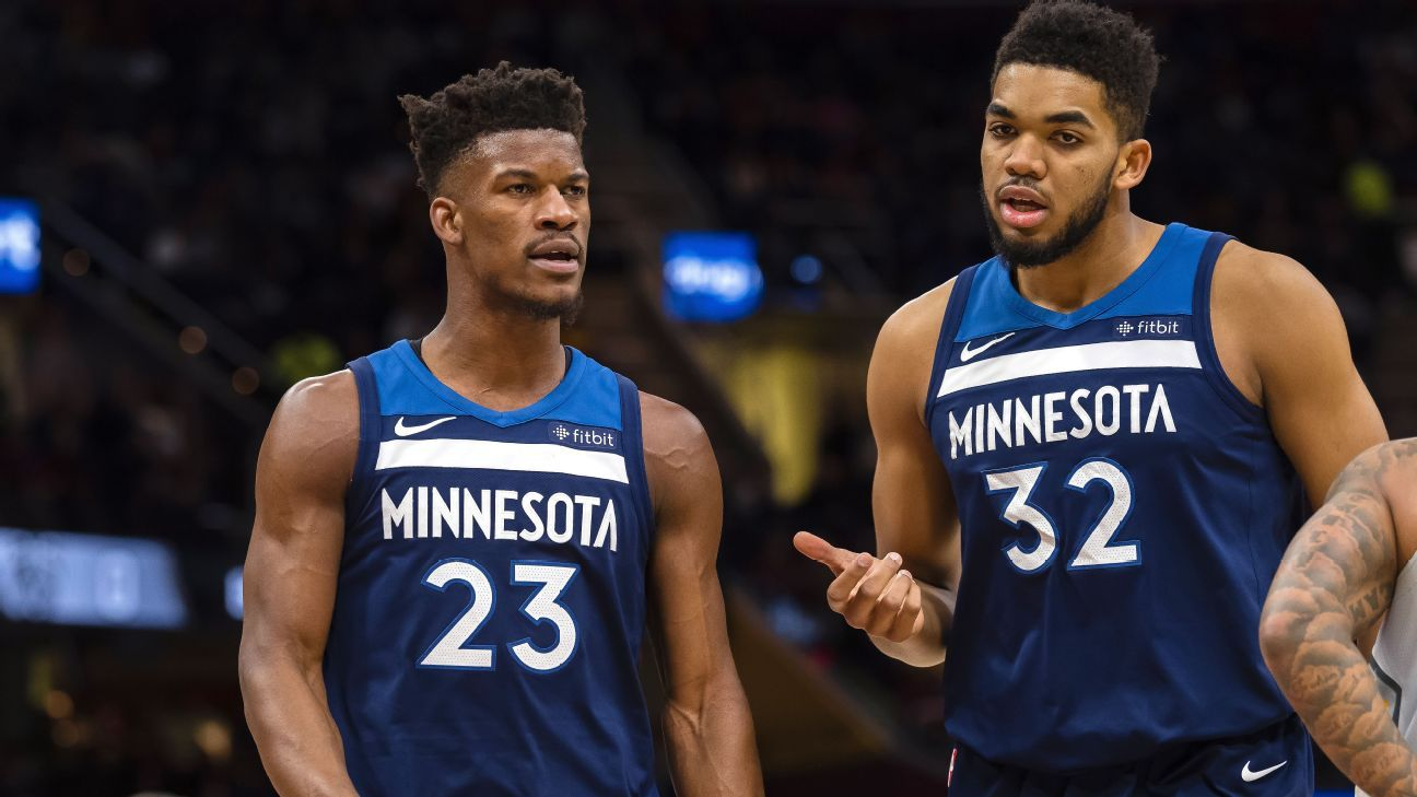 Jimmy Butler, Minnesota Timberwolves face uncertainty in regular-season opener vs. San Antonio Spurs