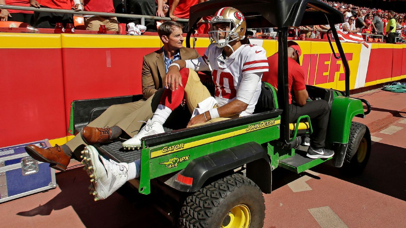 MRI confirms torn ACL for Jimmy Garoppolo of San Francisco 49ers