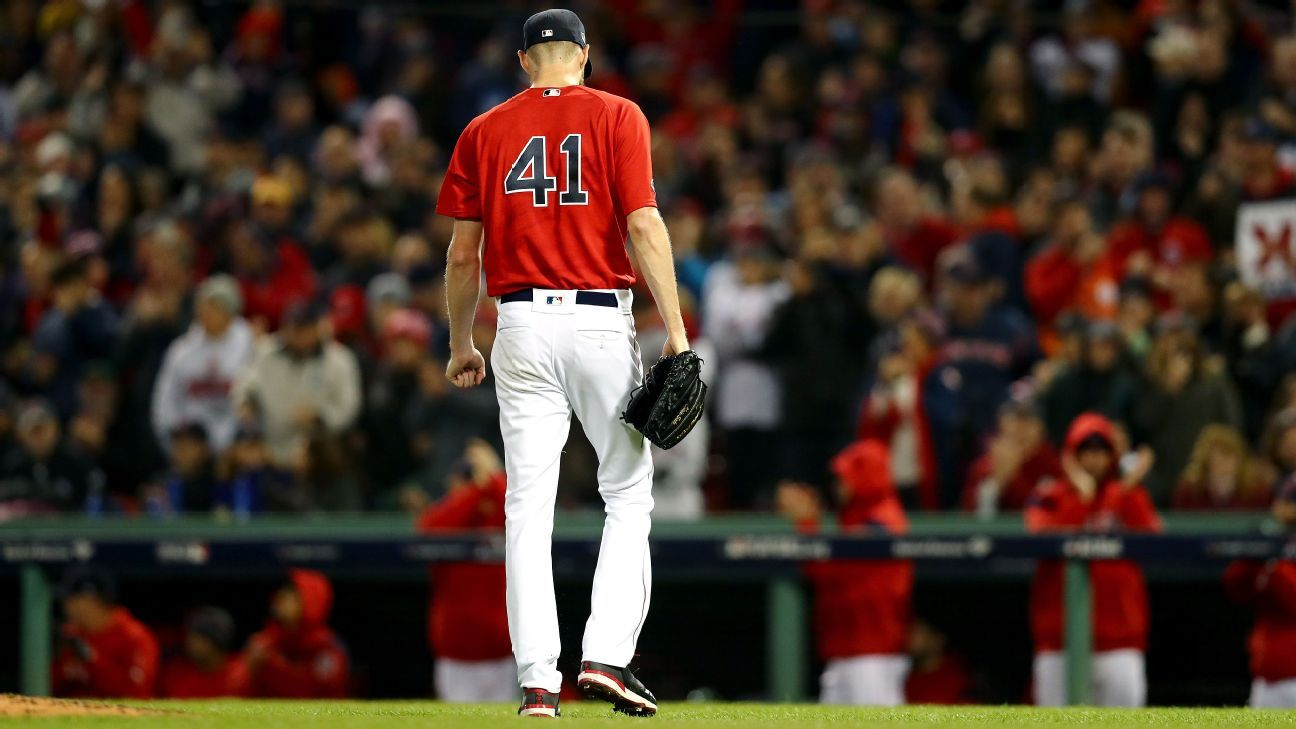 Red Sox starter Chris Sale was admitted to a hospital Sunday afternoon because of a stomach illness, the team said.