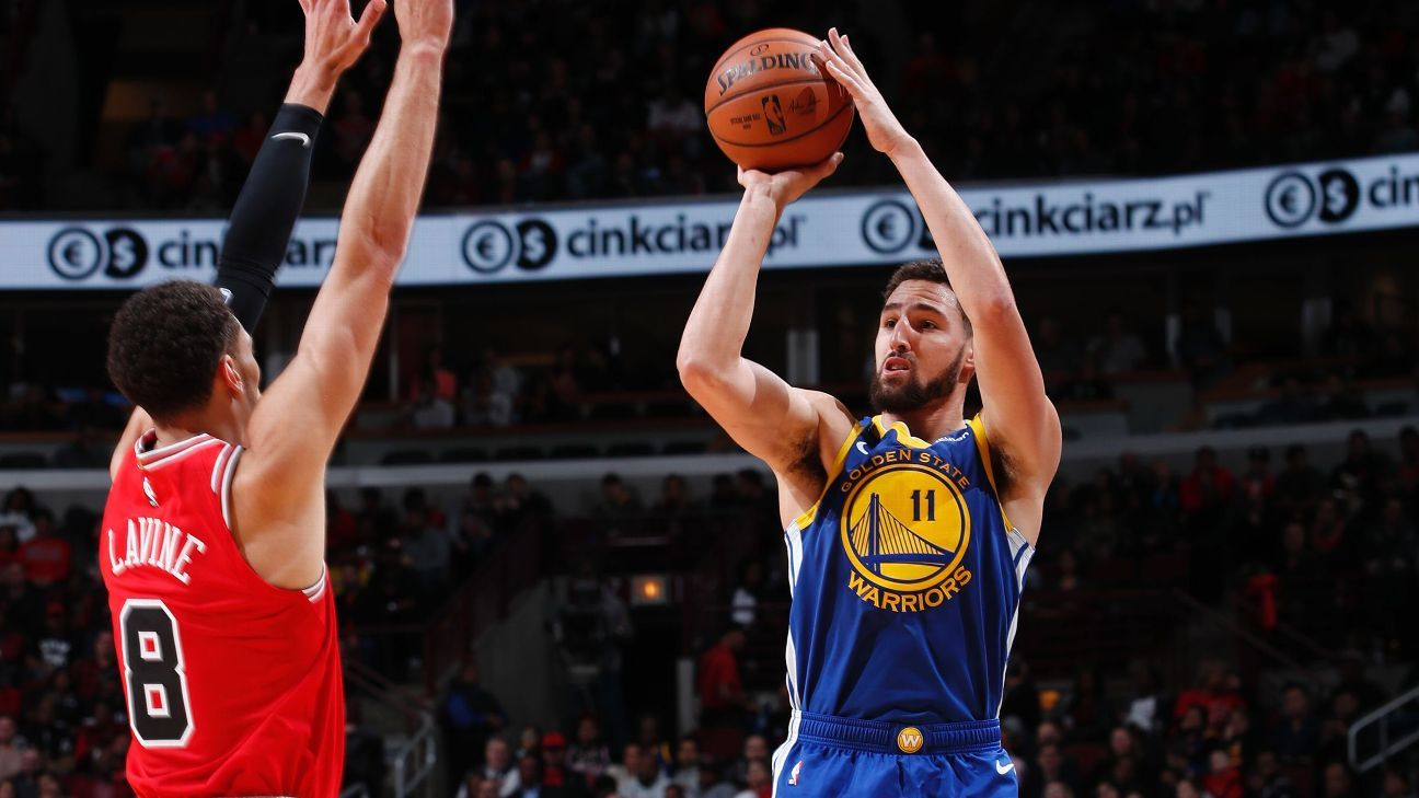 Warriors' Thompson hits record 14 3s in win