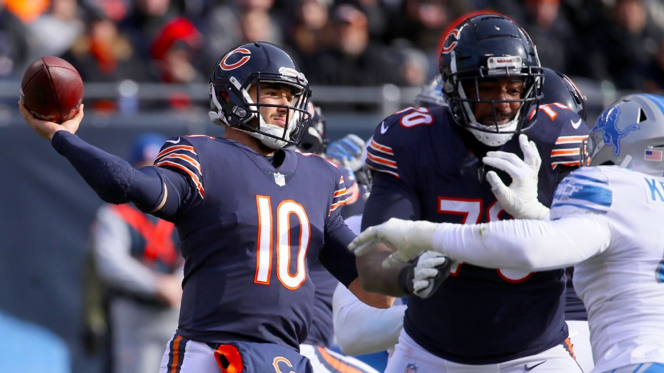 Chicago strengthened its grip on the NFC North behind four TDs and a career-high 355 yards from Trubisky, who continues to improve in his second year.