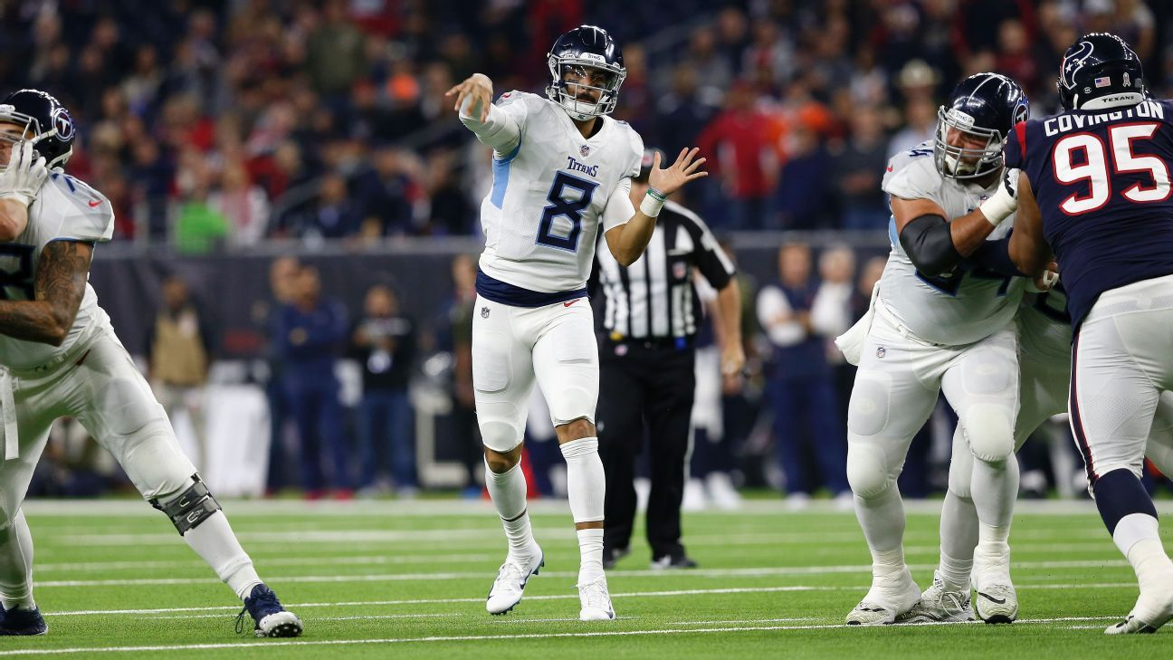 Tennessee is scrambling for a playoff bid, and the Titans QB is starting to connect on deeper passes just in time for Thursday's visit from the Jags.