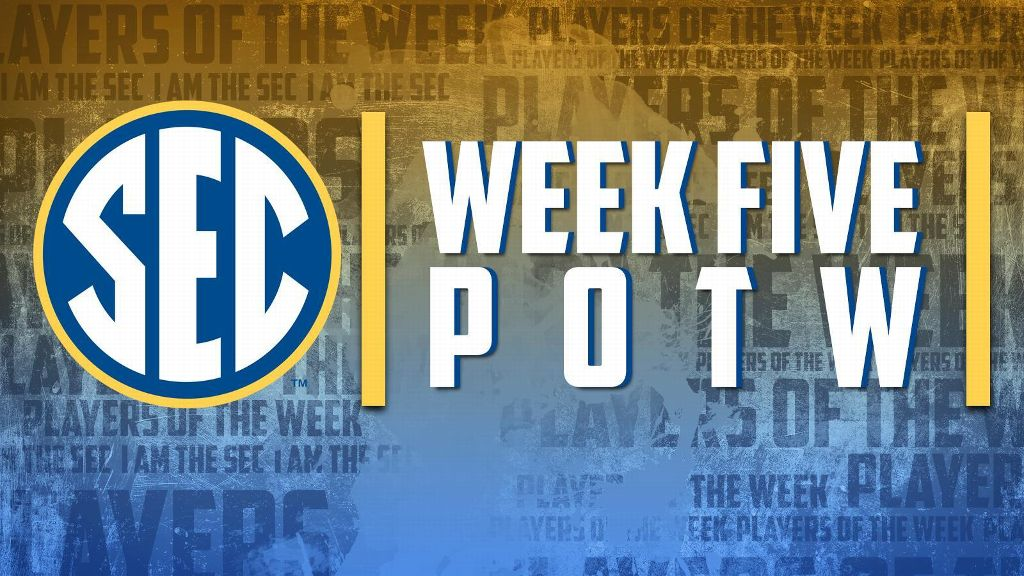 SEC Football Week 5 Players of the Week