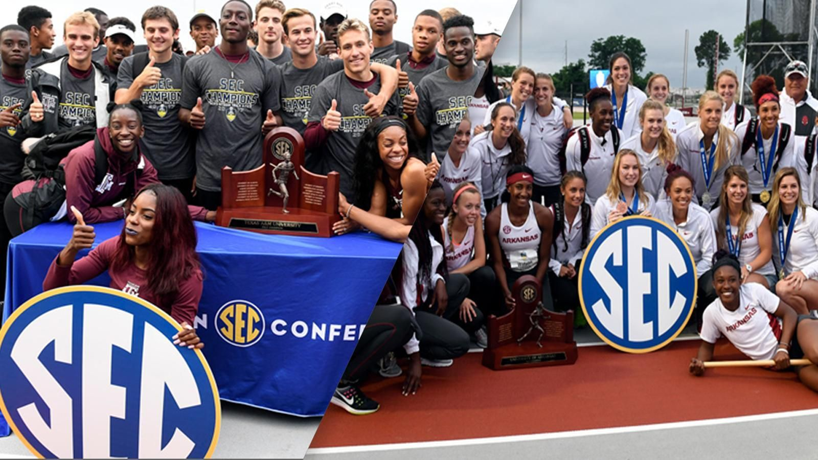 Aggie men, Arkansas women win SEC Outdoor Championships