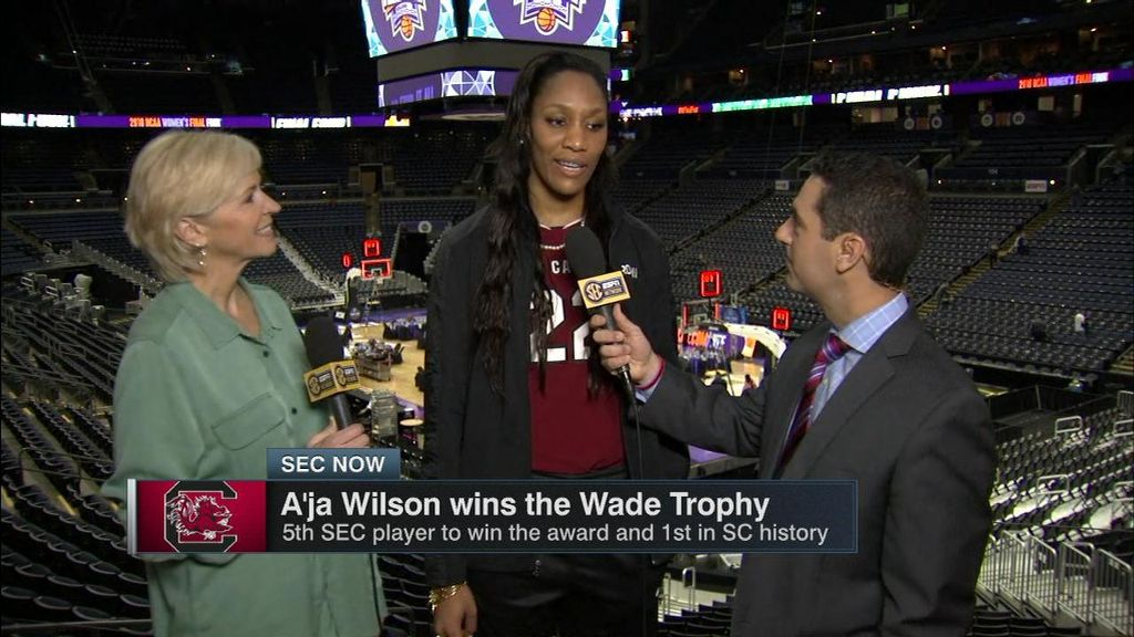 South Carolina's Wilson wins Wade Trophy