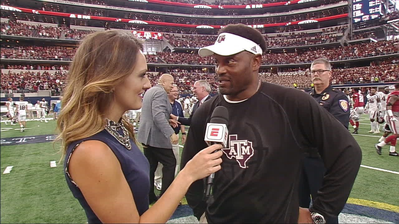 Sumlin discusses Aggies' first SEC win