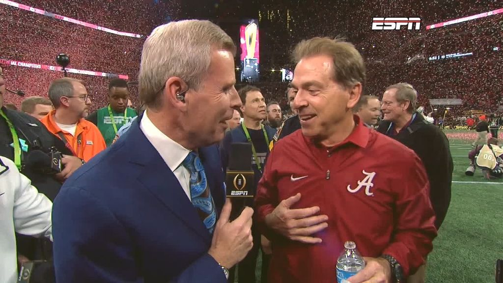Saban: 'This is the happiest I've ever been in my life'
