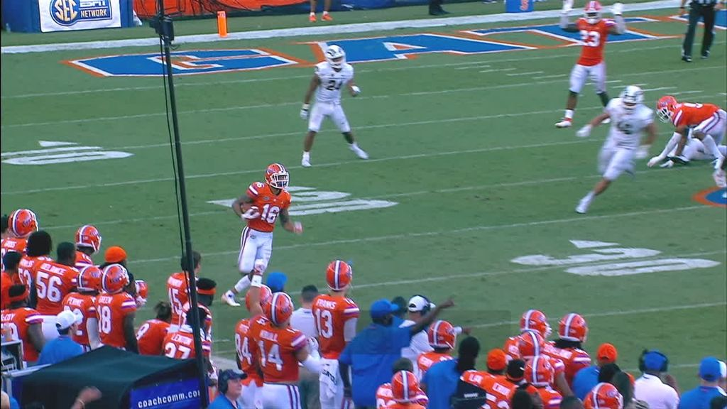 Swain rocks The Swamp with 85-yard punt return TD
