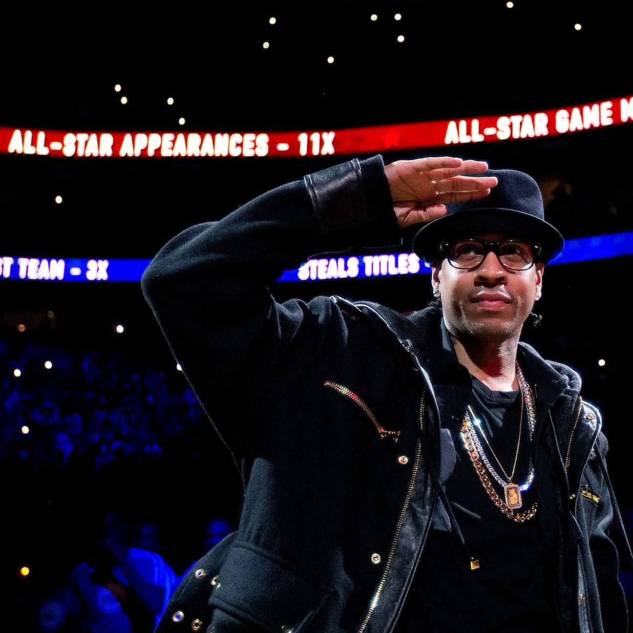 Allen Iverson's No. 3 retired by Philadelphia 76ers