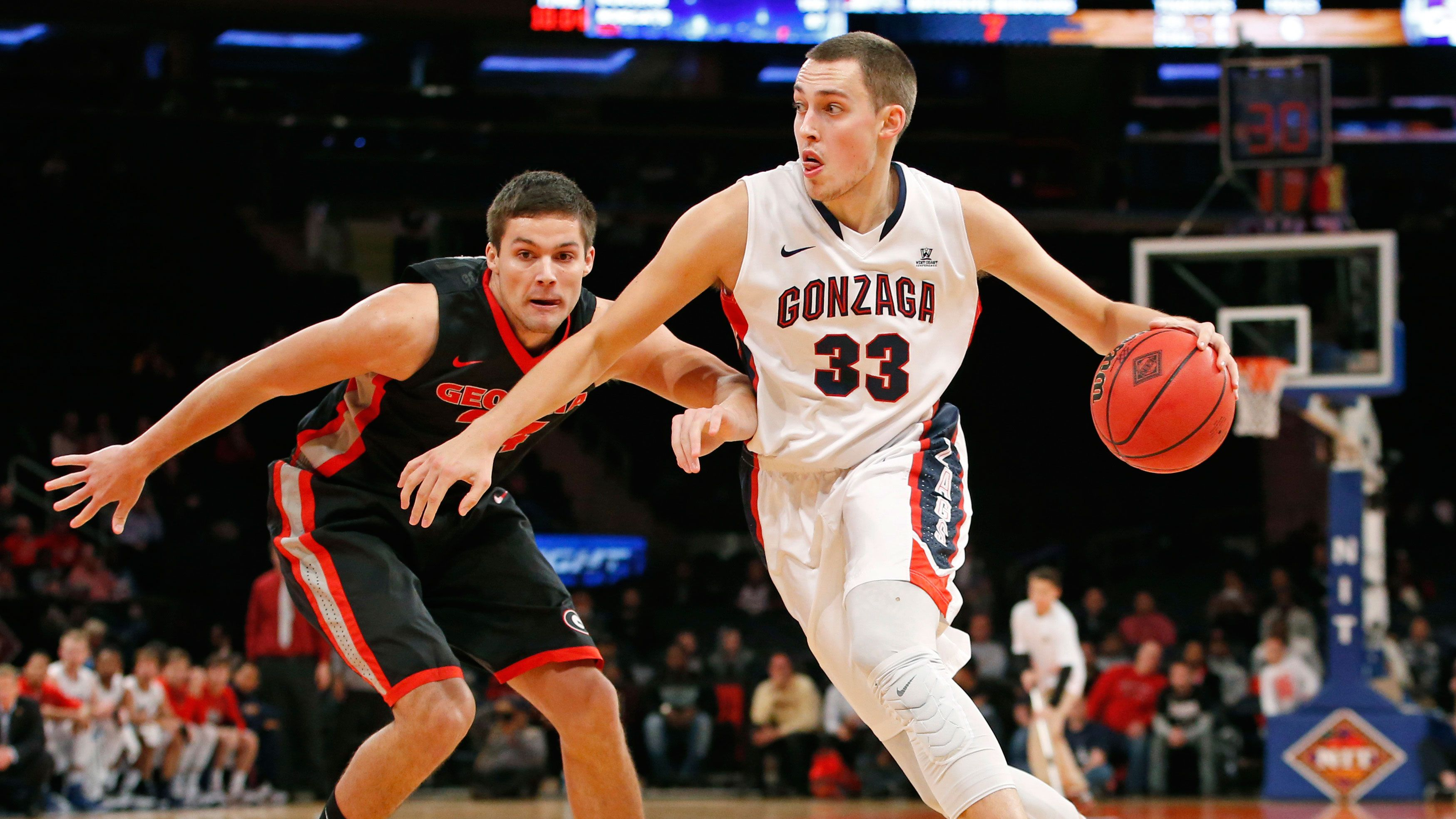 Wiltjer leads No. 10 Gonzaga past Georgia