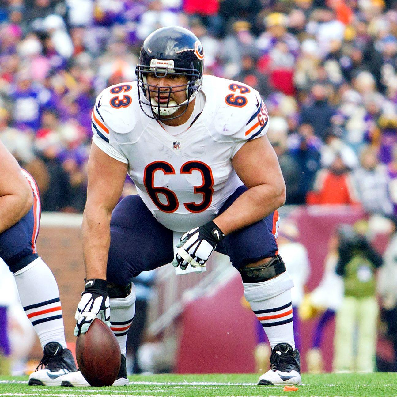 Chicago Bears Cut Center Roberto Garza Add Will Montgomery