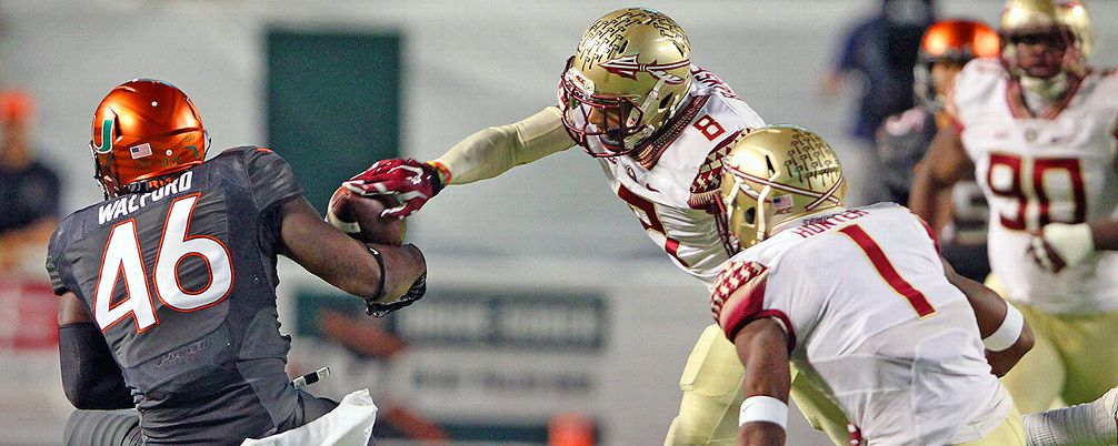 Florida State cornerback Jalen Ramsey embracing another ...