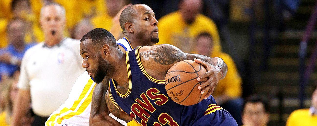 Andre Iguodala's defense keeping LeBron James locked down ...