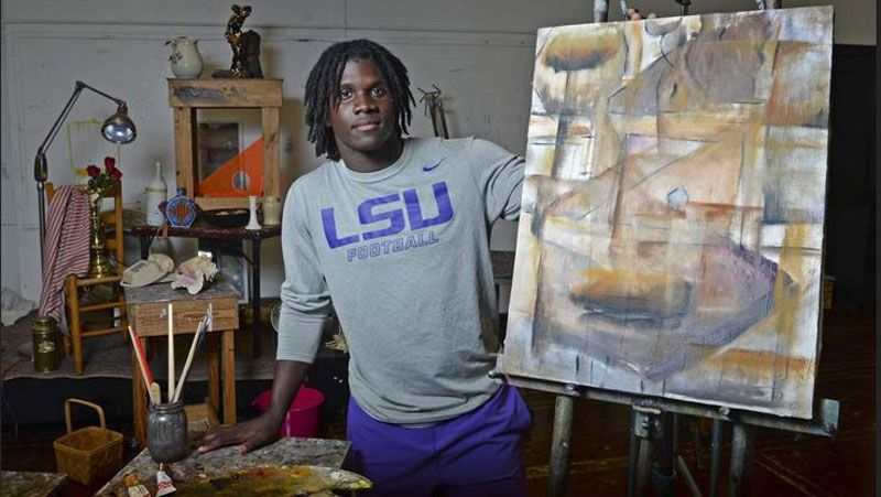 Brandon Surtain trades pads for brushes as art major
