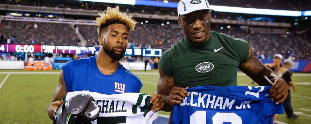 Photo of Calvin Johnson & his friend American Football player  Odell Beckham Jr. -