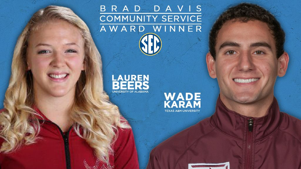 Beers, Karam named SEC Community Service Award winners