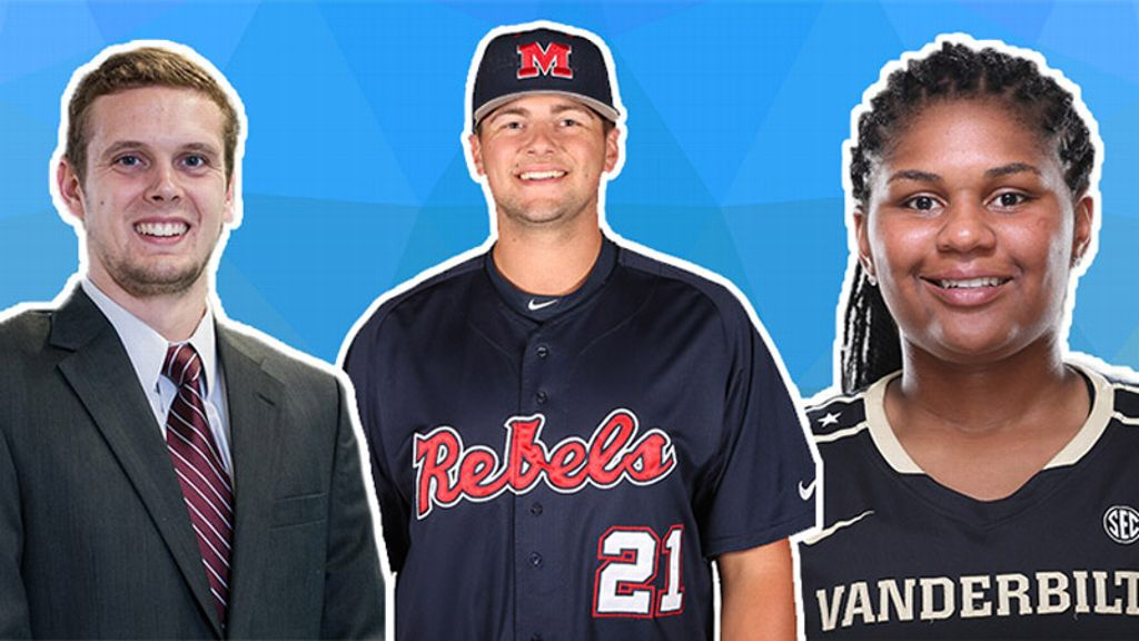 Three student-athletes to represent SEC