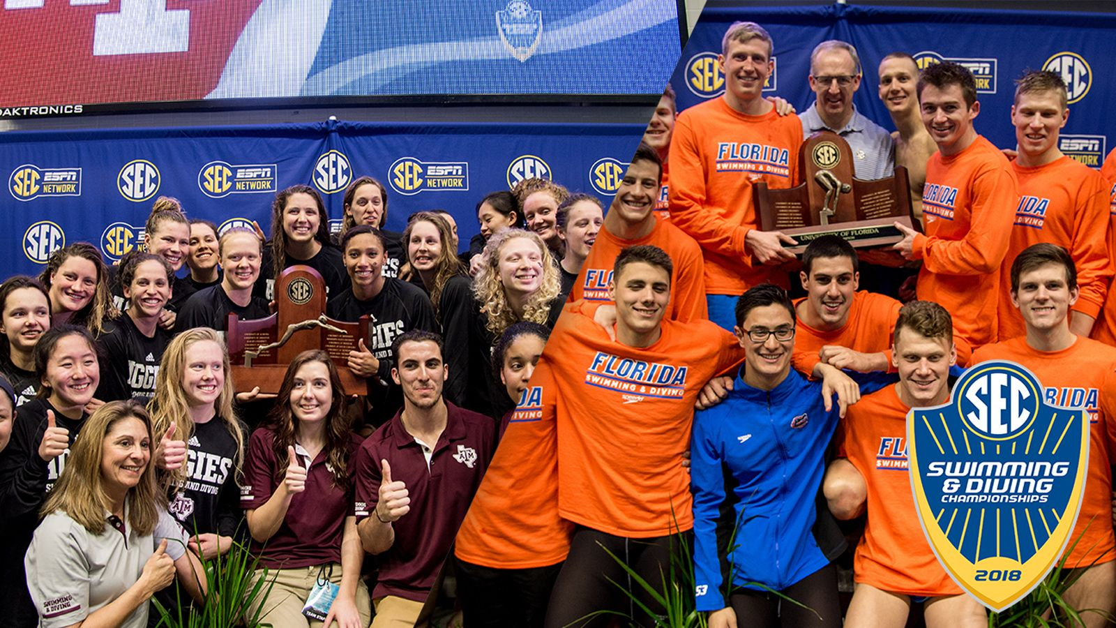 Aggie women, Gator men win SEC Championships