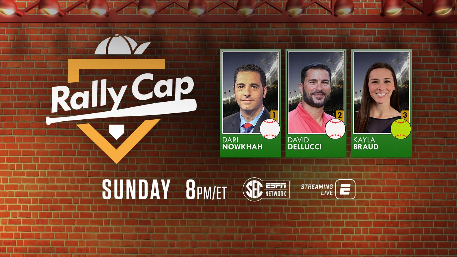 Sec Network Debuts Rally Cap On Sunday Nights