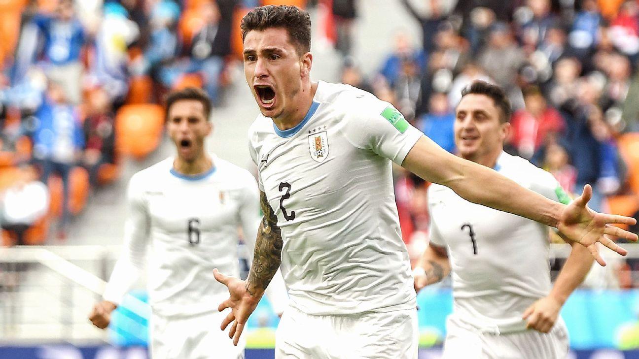 a4979d312 Suarez misfires but Uruguay beat Salah-less Egypt
