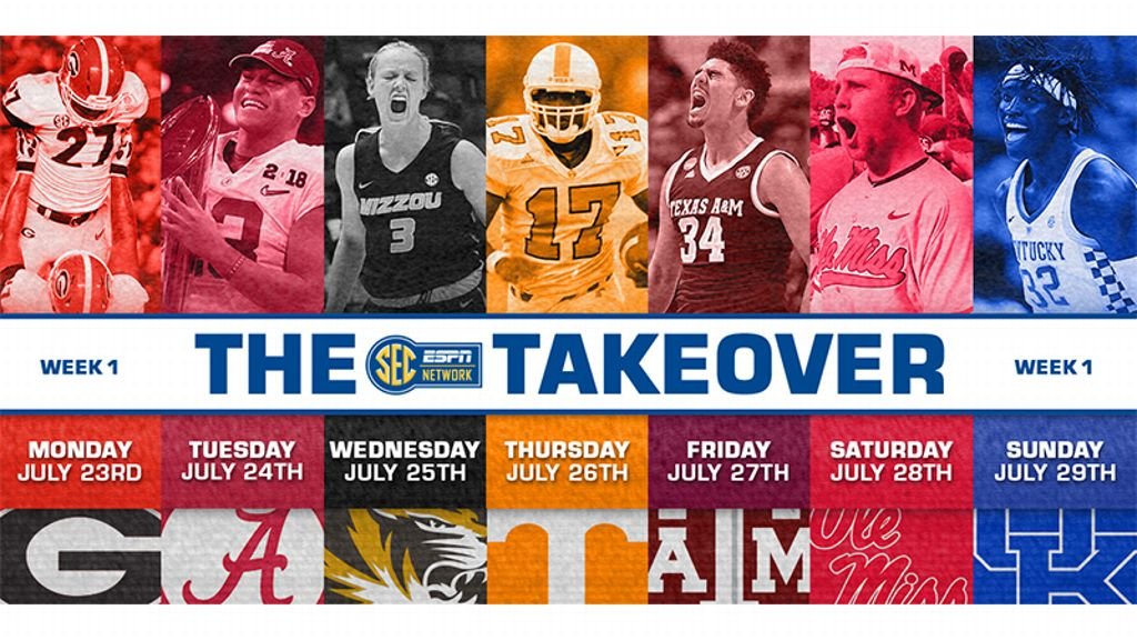 Teams take center stage for SEC Network Takeover