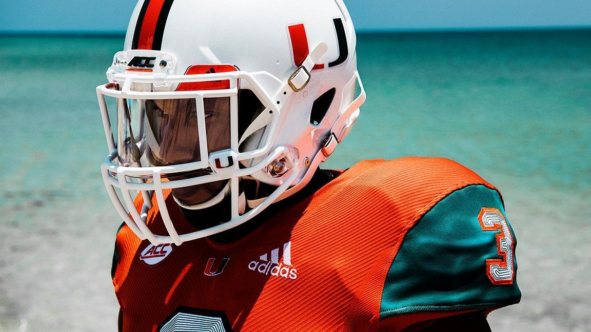sale retailer ad639 14222 Miami Hurricanes to wear uniforms made from repurposed ...