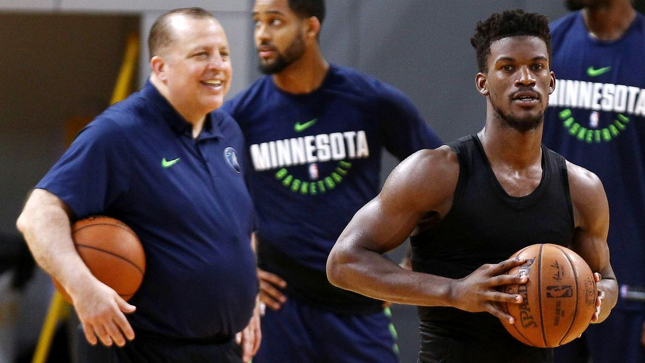 Jimmy Butler and Tom Thibodeau talk about Timberwolves