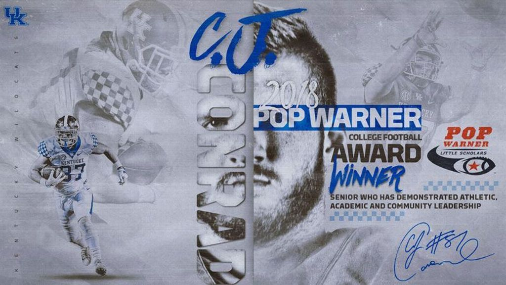 Conrad wins Pop Warner National College Football Award