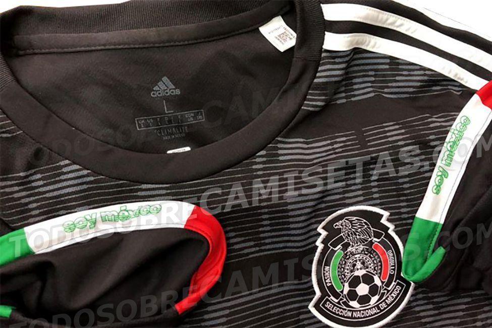 Posible camiseta filtrada de la Selección Mexicana para 2019.