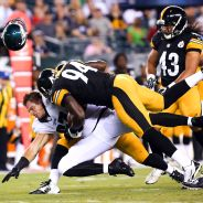 Brent Celek and Lawrence Timmons