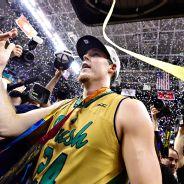 Notre Dame's Pat Connaughton celebrates