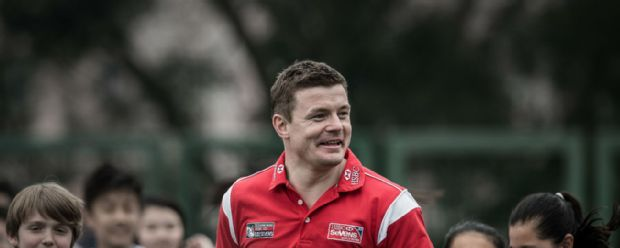 Brian O'Driscoll at Hong Kong Sevens in 2015