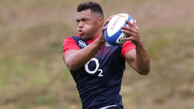 Luther Burrell during England training at Pennyhill Park