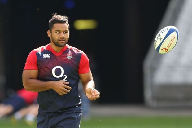 Billy Vunipola during England's Captain's run at the Stade de France
