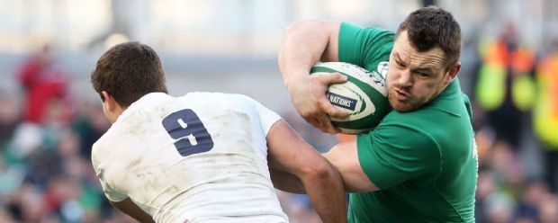 Cian Healy runs with the ball during Ireland's Six Nations win against England