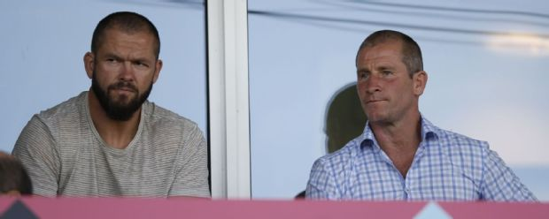 Andy Farrell and Stuart Lancaster watch on as Fiji hammer Canada at The Stoop