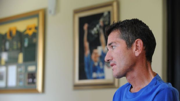 Joost van der Westhuizen at his home