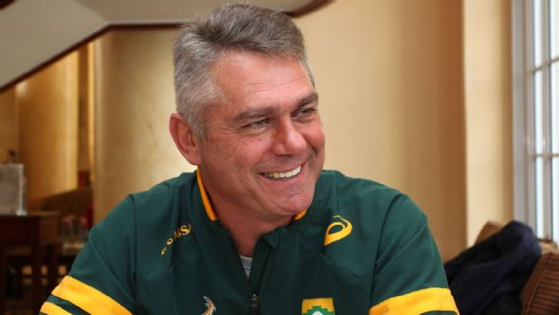 Springbok coach Heyneke Meyer during a portrait session at The Cullinan hotel